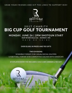 Image of the 2017 RCR Golf Tournament Flyer