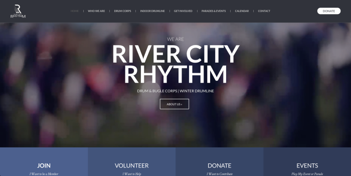 Photo of the RCR Website Home Screen