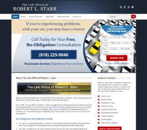 Screenshot of the original StarrLaw site