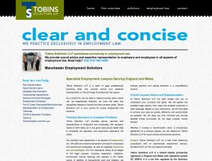 Tobins Solicitors old site screenshot