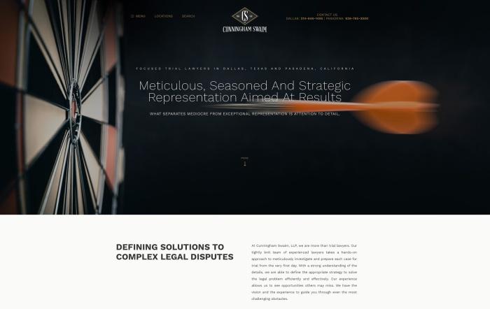 image of Cunningham Swaim homepage banner