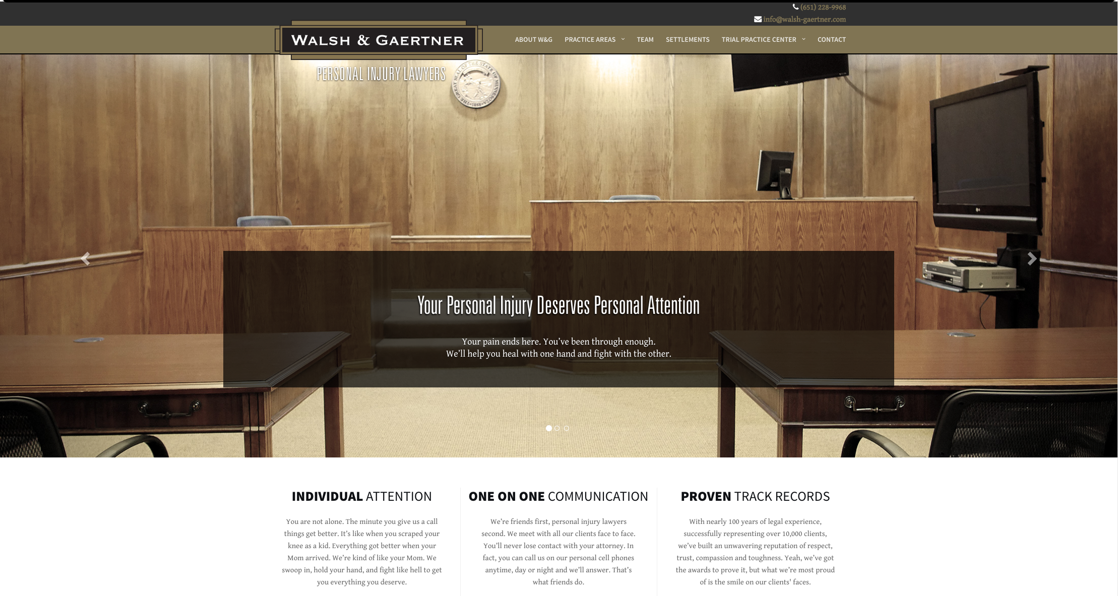 photo of the previously published Walsh and Gaertner website.